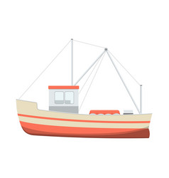 sea fishing boat vector image