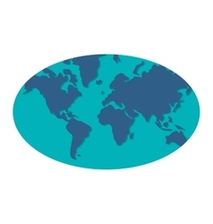 blue world map icon vector image