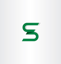letter s logotype s icon logo green sign vector image vector image