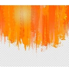 Orange Grunge Paint Splashes Background vector image