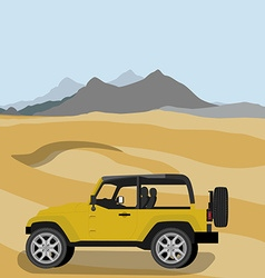 Safari car in desert vector image