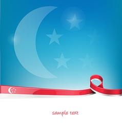 singapore ribbon flag vector image vector image