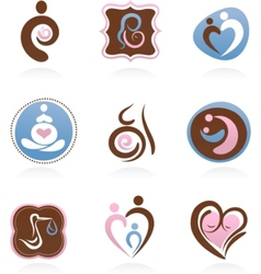 collection of motherhood icons vector image vector image