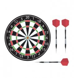 dartboard and darts vector image vector image