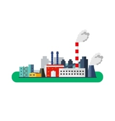 Factory Icon pollution concept flat vector image