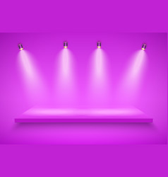 purple presentation platform vector image vector image