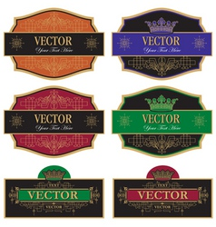set label vintage vector image