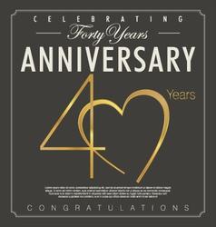 40 years Anniversary background vector image