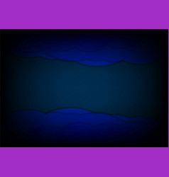 abstract dark blue wave background graphic design vector image
