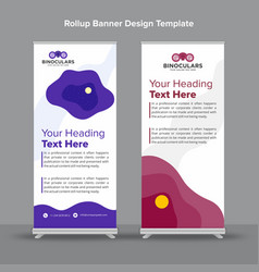 Abstract purple pink rollup banner for creative vector