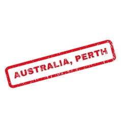 Australia Perth Rubber Stamp vector image