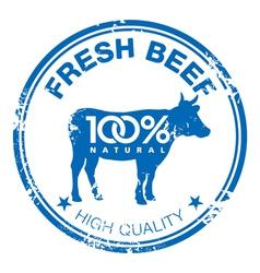 Beef stamp vector
