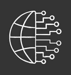 Big data chalk icon vector