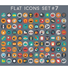 Big set flat icons with modern colors vector