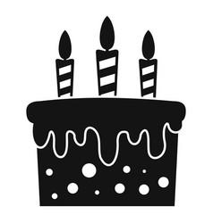 Birthday cake icon simple style vector