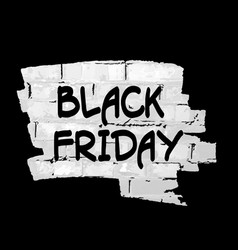 black friday text on paint splash with bricks vector image