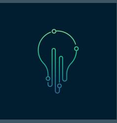 bulb logo design template vector image