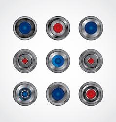 Camera photography button logotype set vector