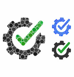 Checking asistance mosaic icon spheric items vector