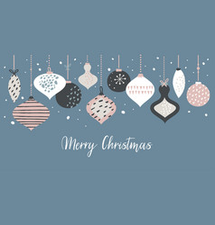 christmas banner template with retro christmas vector image