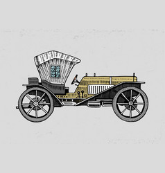 Classic car machine or engine vector
