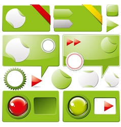 Collection of web elements vector