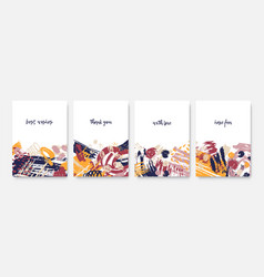 collection postcard templates with inspiring vector image