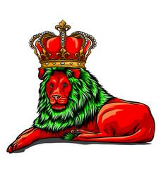 color king lion design art vector image