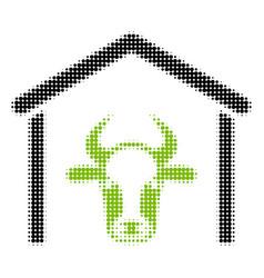 cow garage halftone icon vector image