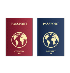 Creative of passports with vector