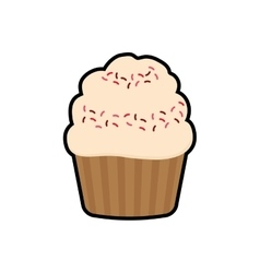 cupcake dessert cute sweet icon graphic vector image
