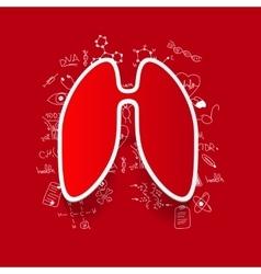 Drawing medical formulas lung vector