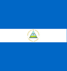 Flag of nicaragua in official rate and colors vector