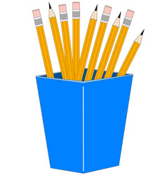 glass with pencils vector image