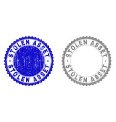 Grunge stolen asset scratched watermarks vector