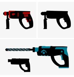 Hammer drill vector image