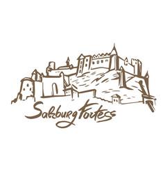 hand drawn of salzburg vector image