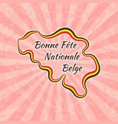 Happy Belgian National Day vector