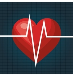 Heart beat isolated icon design vector