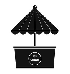 Ice creme icon simple style vector