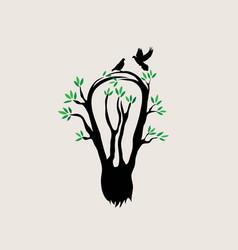 idea tree logo template vector image