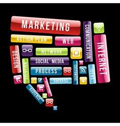 Internet marketing speech bubble vector