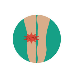 knee pain vector image
