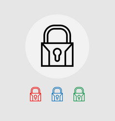 Lock icons system security vector