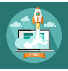 New business project startup developmen vector