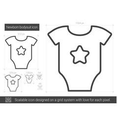 newborn bodysuit line icon vector image