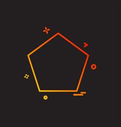 pantagon icon design vector image