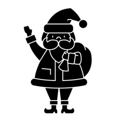 santa claus icon black sign vector image