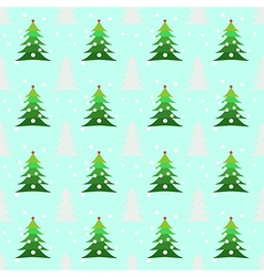 Seamless christmas trees background vector