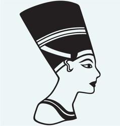 Silhouette Nefertiti vector